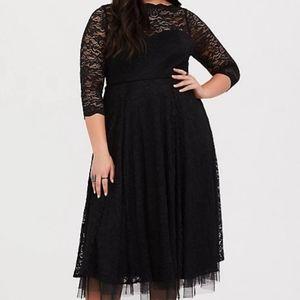 Torrid Black Lace Midi Dress
